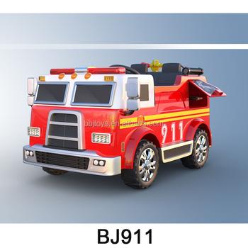 Kids Fire Engine Car Battery Power Wheels Race Bj911 Buy Kids Fire
