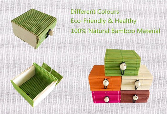 Biodegradable storage box natural bamboo casio watch packaging box