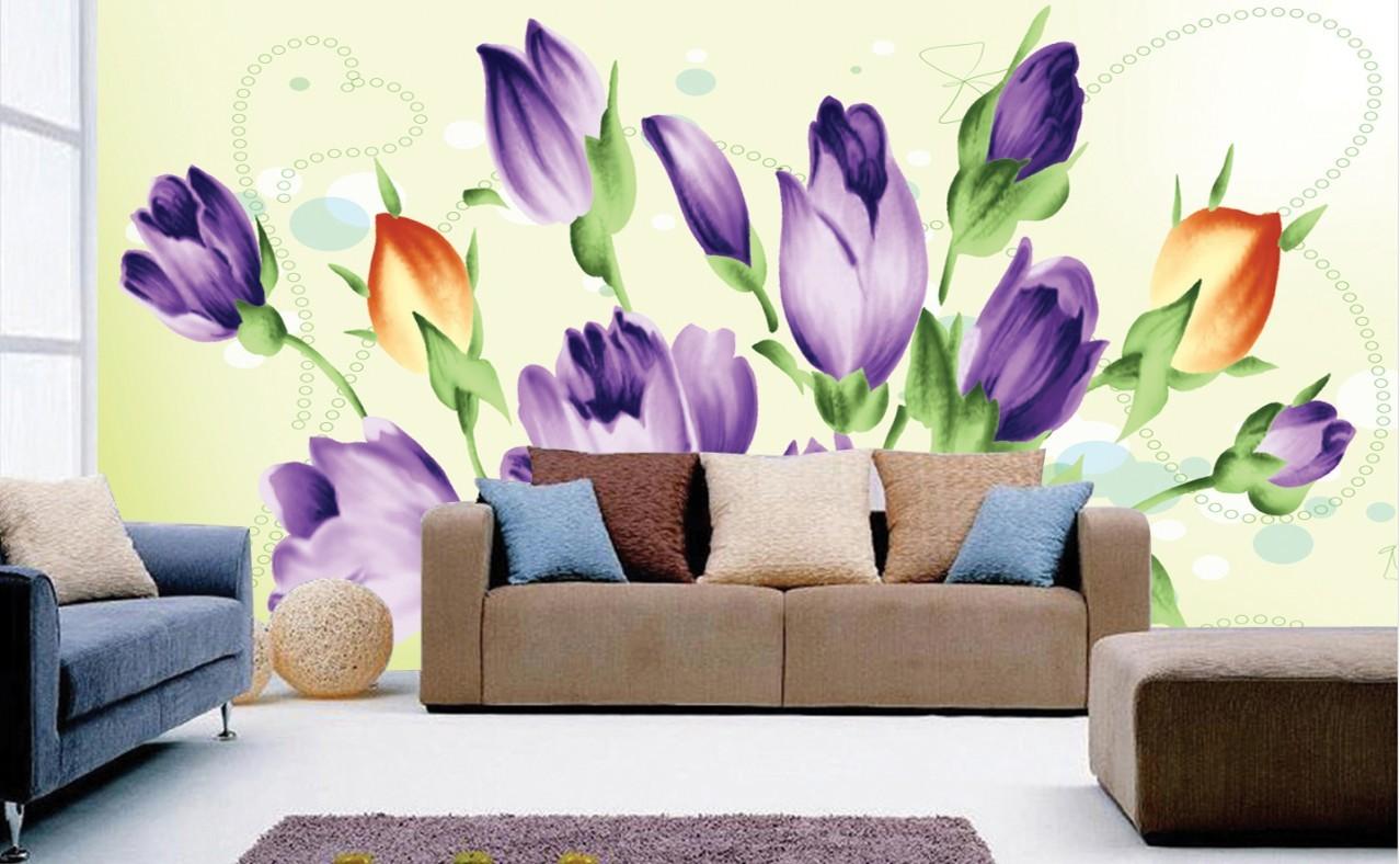 Fondos De Pared: Flores Para Pintar En Pared. Latest Mural De Televisin De
