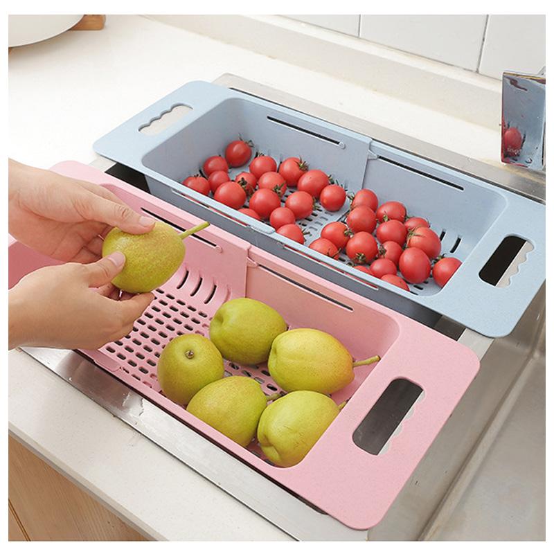 Multi-Funzione di Sopra Il Lavandino Tagliere Colino Da Cucina In Plastica Strumento