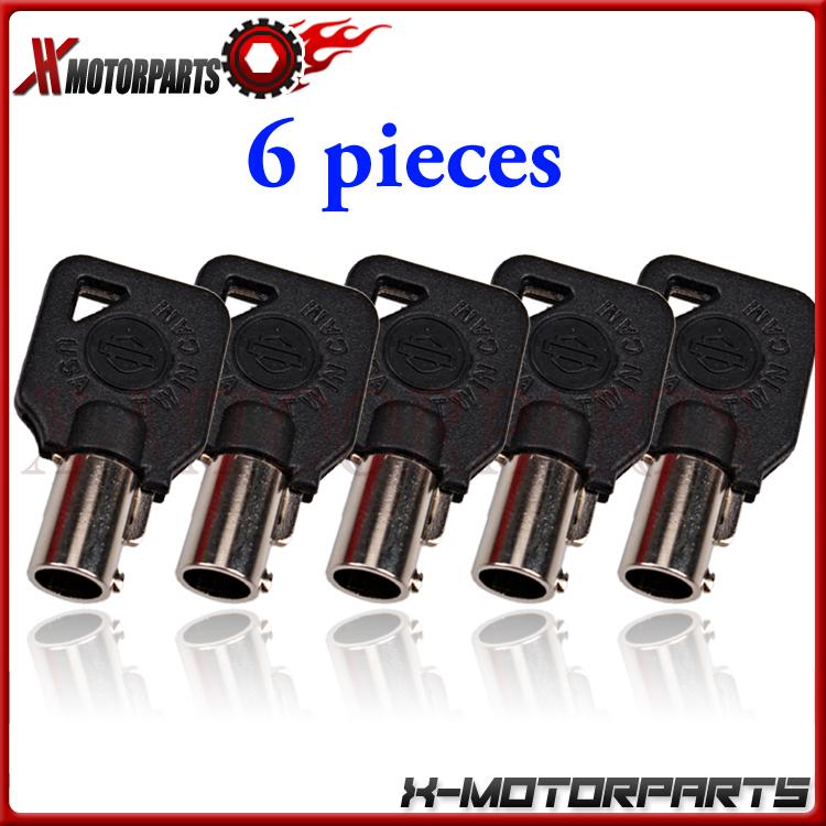 6 шт. мотоциклов ключи для Harley FLHR царь XL XLH XR 883 1000 BLK
