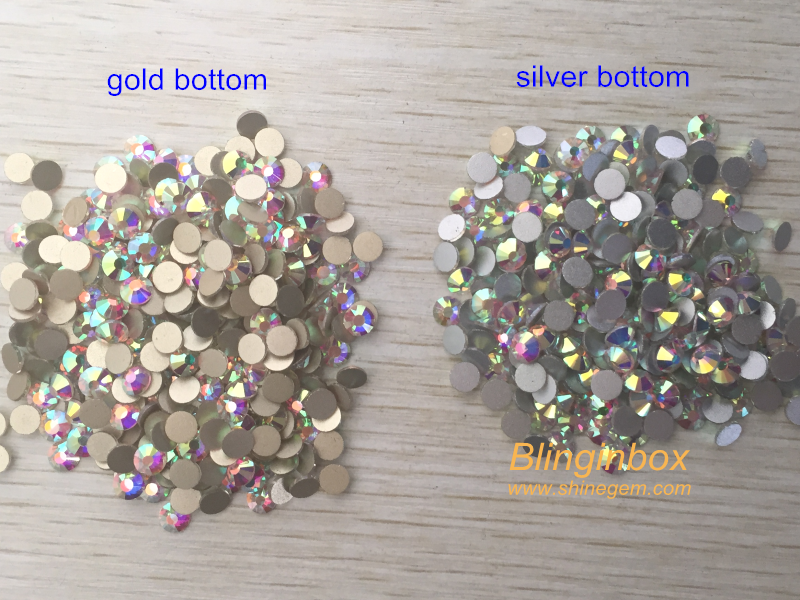 Factory High quality 1440pcs Gold Bottom Crystal AB Color Non Hotfix Crystal Flatback Rhinestone