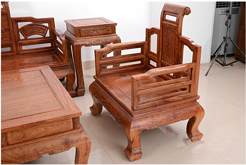 2017 new durable african rosewood antique furniture living
