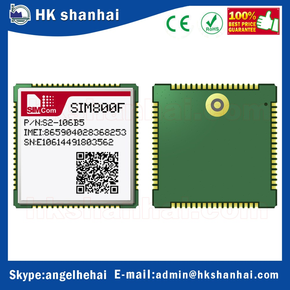 electronic components and supplies gsm gprs quad-band 2G bluetooth gps module simcom sim800f with lowest price gps tracking syst
