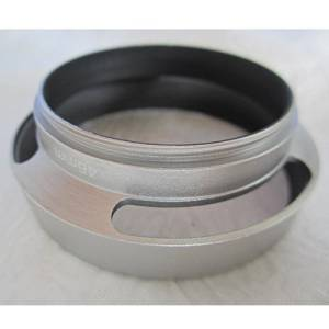 46mm Metal Vented Hollow Filter Lens Hood Screw-in for Canon Nikon Silver