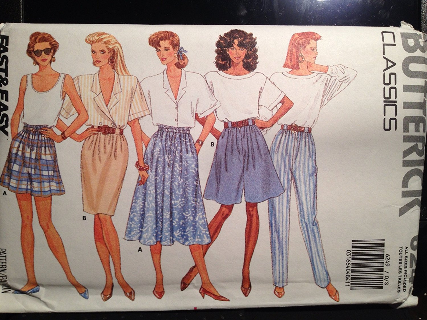 Butterick Classics Fast & Easy Pants Shorts & Shirt 6249 All Sizes