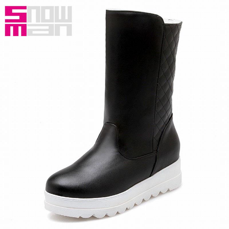 25707c89c4c4 Get Quotations · Embossed Plush Fur Boots Wedges Platform Snow Boots Winter  Boots Snow Shoes Woman Short Boots 2015
