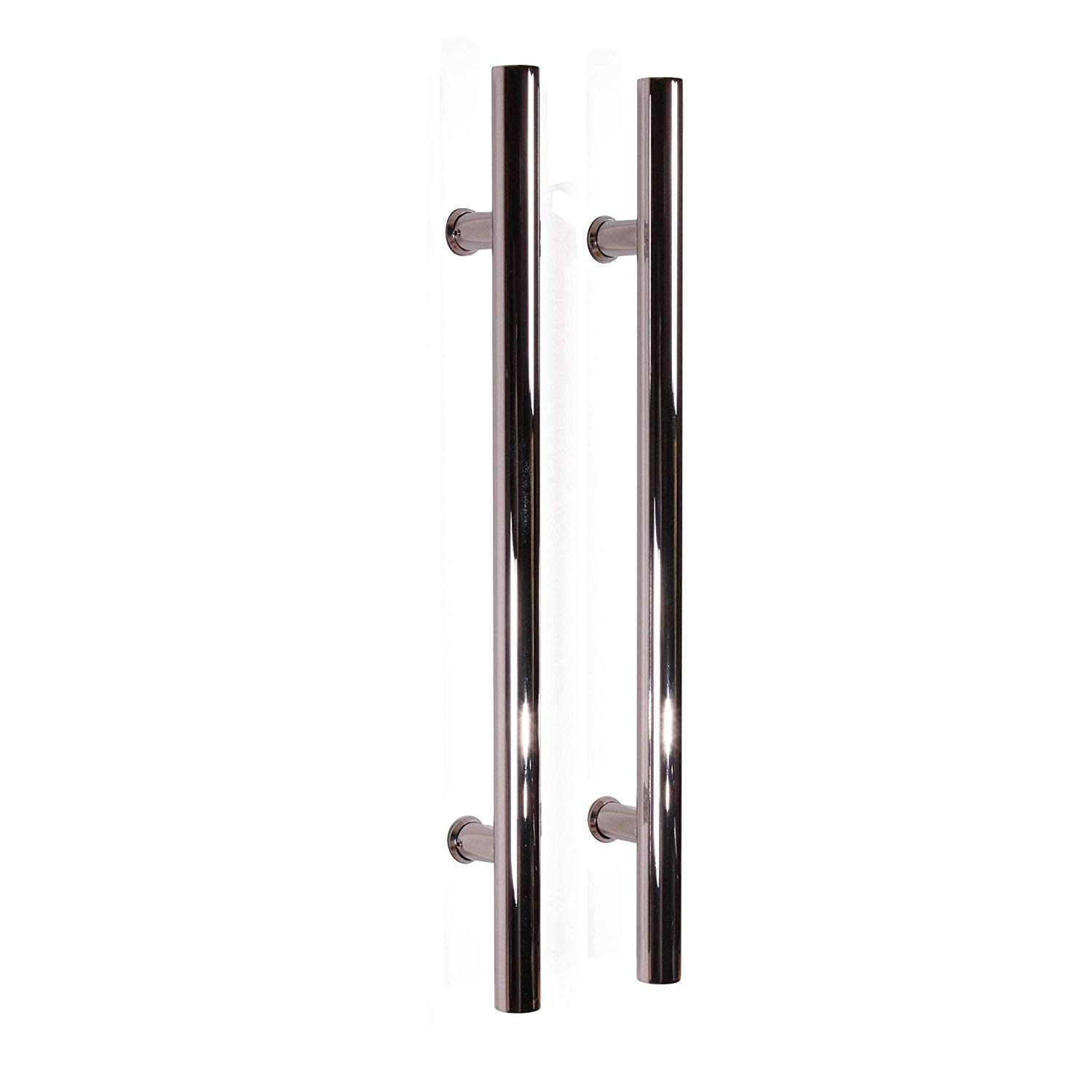 """Pull Push 16"""" Handles for Entrance Entry Front Door, Interior and Exterior, Mirror Finish, Storefront Door, Commercial Entry Gate and Office Door, Ladder Style"""