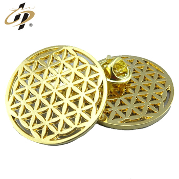 Custom made gold blank plated collar metal lapel pins for wedding gift