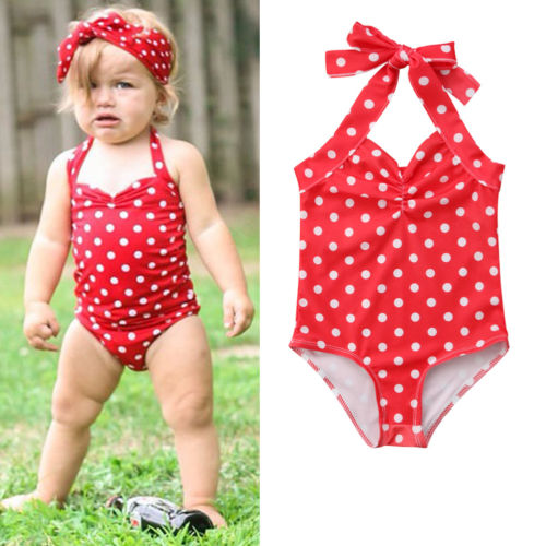 Clothing Sets Infant Kids Girls Color Dot Swimwear Two Piece Swimsuit Bikini Set Outfits Baby Girls Quality Swimwear Summer Kids Toddler Girl Punctual Timing