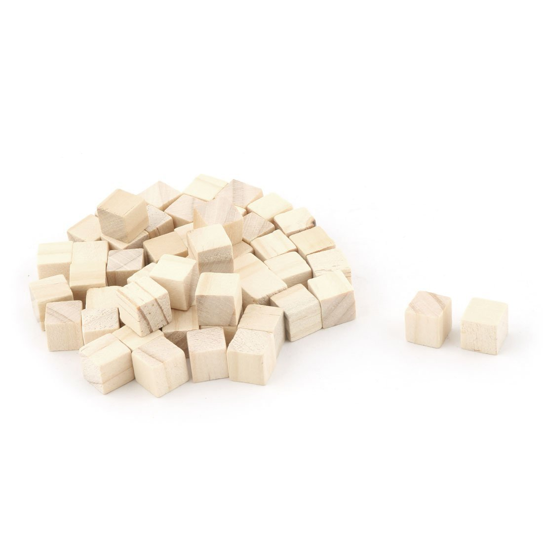 WINGONEER 250PCS Wooden Cubes - 10mm- Wood Square Blocks For Puzzle Making, Crafts & DIY Projects
