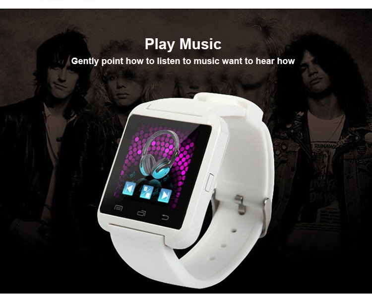 Fashionable factory promotion price Android White 2016 smartwatch