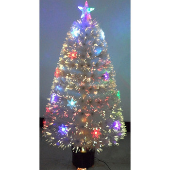 artificial led lights fiber optic christmas tree with sunflower decorations
