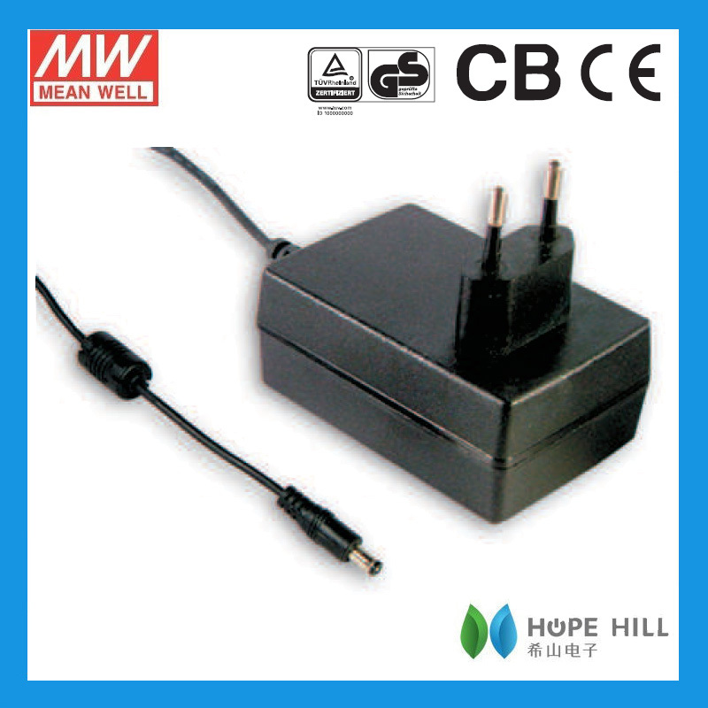 Meanwell Gs36e12-p1j 36w Ac-dc Single Output Euro Wall-mounted ...