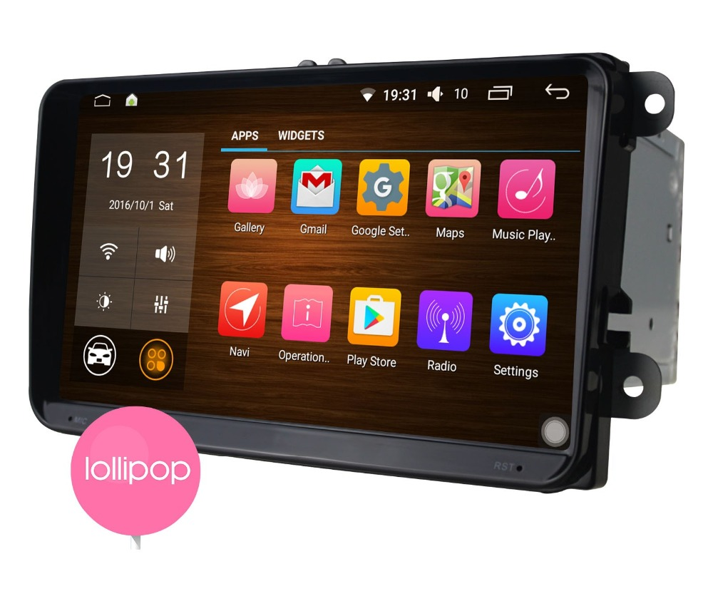 Android 5.1 quad core 9 inch HD touch screen car stereo dvd player gps radio for Volkswagen VW universal model