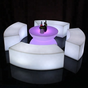 imagine LED glowing bar table and chair set furniture for party and event indoor and out door
