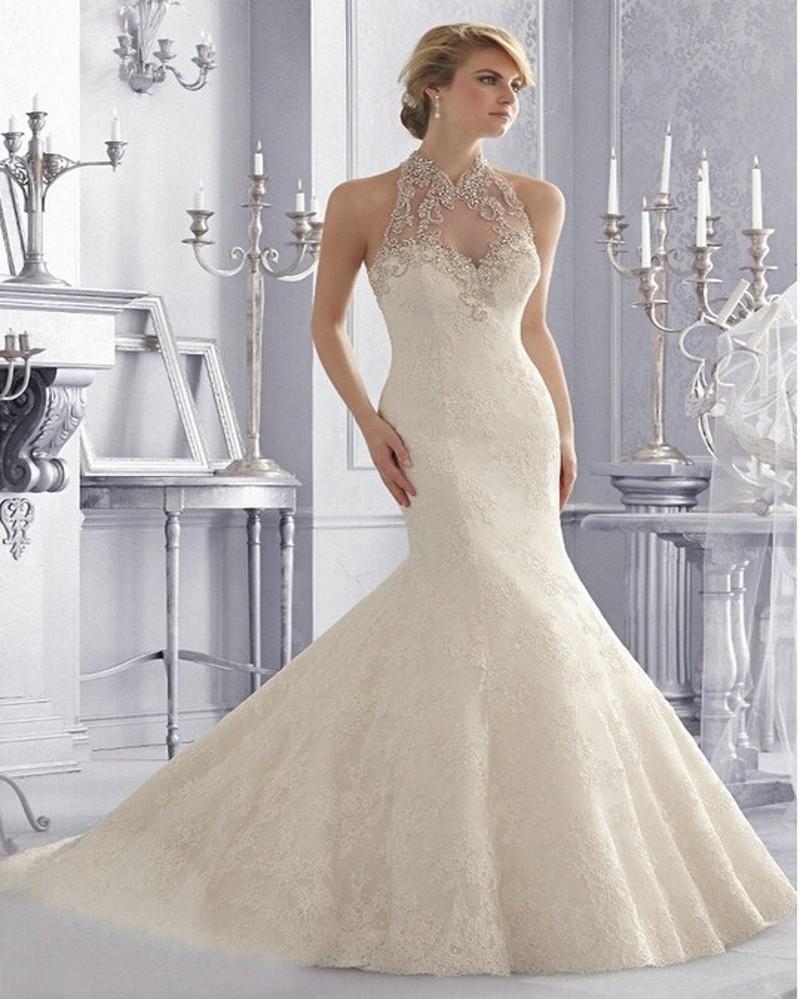 Crystal Design 2016 Wedding Dresses: Vestido De Noiva 2016 Exquisite Crystal Beaded Lace