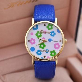 ee7aa3498e3 2014 venda Quente barato promoção Genebra Casuais relógio de Quartzo rosa  relógios de pulso flor Rose. View larger image