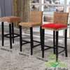 Hotsale China manufacturer Vintage rattan bamboo wooden high chair bar stool