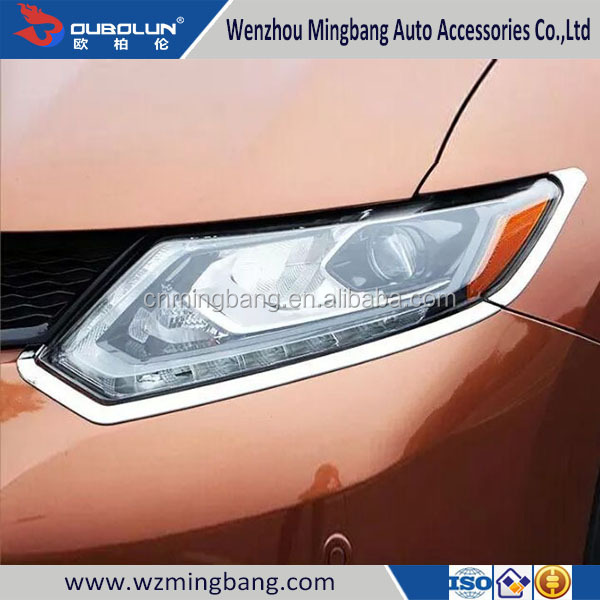 Chrome Accessories Headlight Cover Headlamp Cover For X-TRAIL 2014