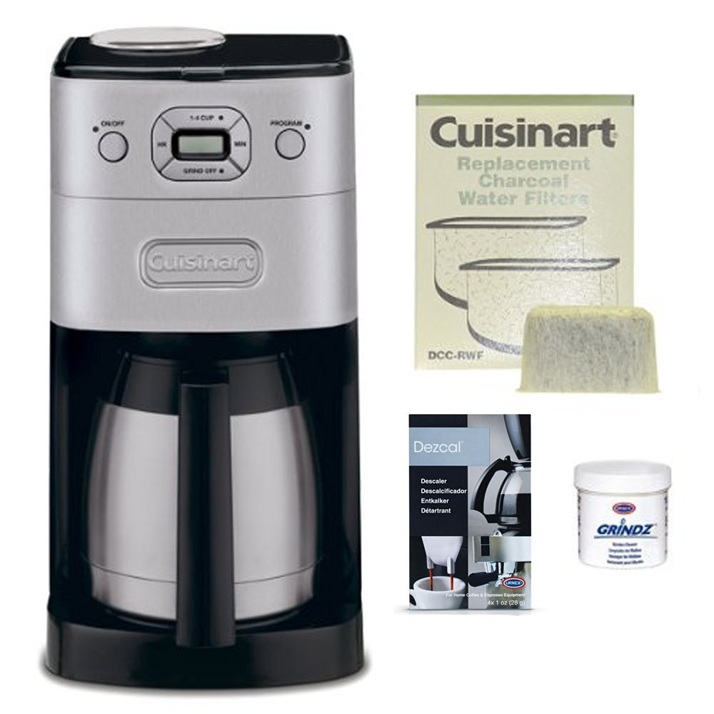Cuisinart DGB-650BC Grind-and-Brew Thermal 10-Cup Coffeemaker Bundle (Certified Refurbished)