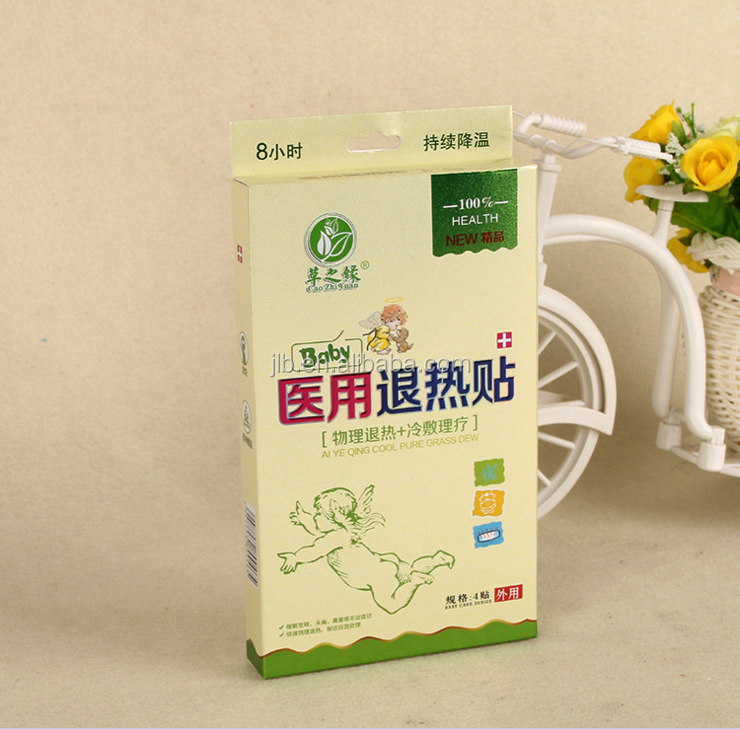 Paper box packaging for fever cooling patch for babies