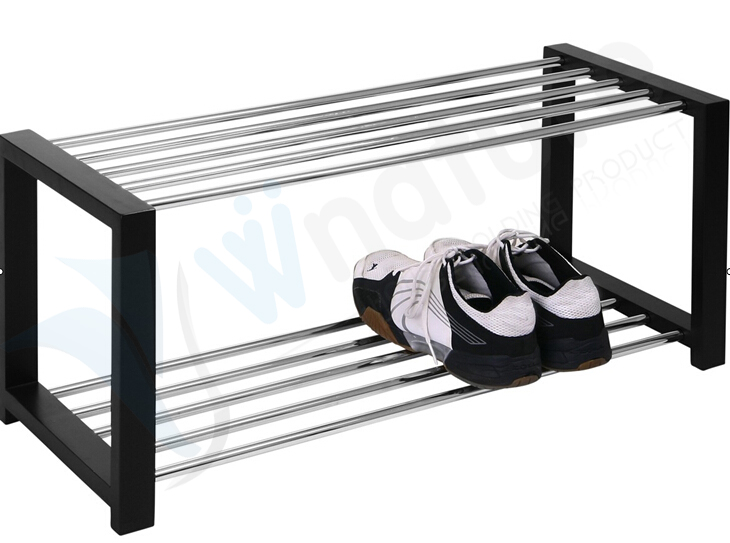 High Quality Wooden Shoes Rack, Metal Shoe Rack Bench For Living Room Part 75