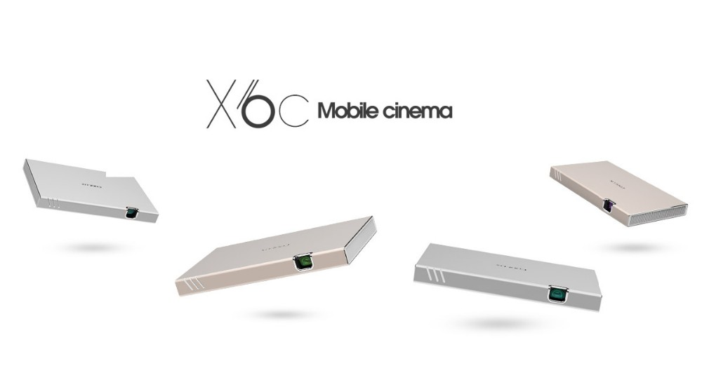 Coolux X6c Mini Projector Wireless Connection With 15000 Mah ...