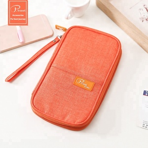 P.travel new design best quality nylon covers wallets passport holder cases