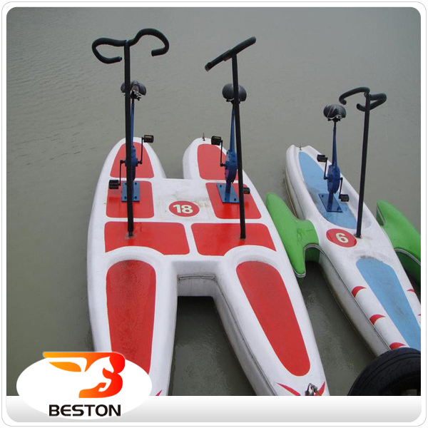 Beston cheap colorful outdoor amusement water pedal bike for sale