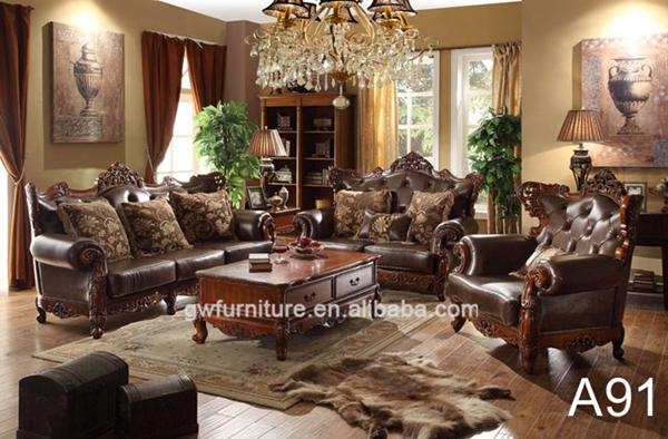 Malaysia Living Room Furniture Leather Sofa Set