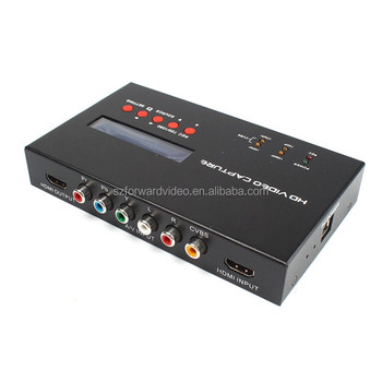 HDMI video capture suppot HDMI AV Ypbpr CBVS video input record video as 720P 1080P with MIC input ezcap283S