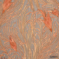 Flamingo wallpaper deep embossed PVC wall paper/ Vinyl wallpapers