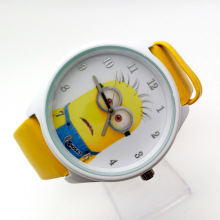 Wholesale NEW Cartoon 3D despicable me 2 minion Wrist watch kids children cartoon quartz watches christmas gift