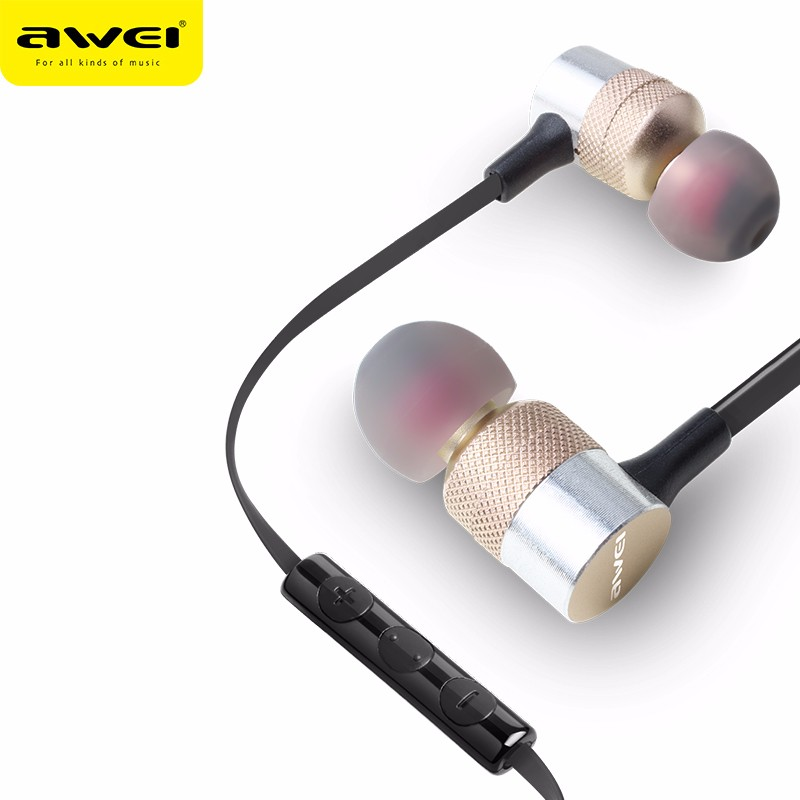 Cell Phone Accessories 2017 AWEI ES-TY20 Mp3 Audio Player Smartphone Earphone With 3.5MM Jack