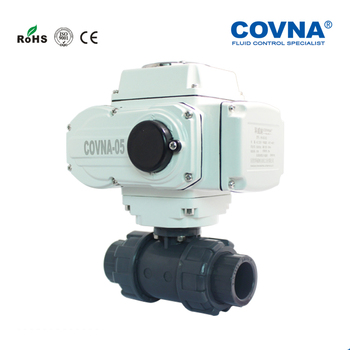24v ON OFF Type 2 Way Electric Actuator PVC Ball Valve