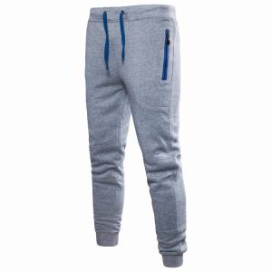 Cheap Zip Pocket Fashion Slim Fit Casual Jogging Sweat Pants