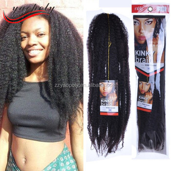 Whole Price 100g 18inch Synthetic Afro Hair Extension Marley Braids Bulk