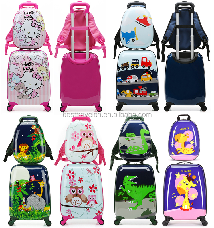 Personalizzato Cute Cartoon ABS Caso Duro Per Bambini Stampati Con Bambini Bagaglio Valigia