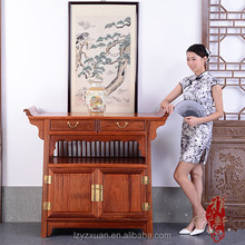 hot selling Chinese style Burma rosewood type antique storage wooden duplex cabinet
