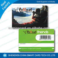 China manufacturer printable student card good quality pvc membership ID card