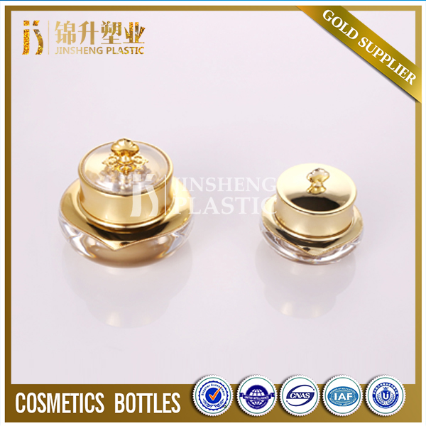 Best selling empty beautiful luxury acrylic gold cosmetic jar 30g