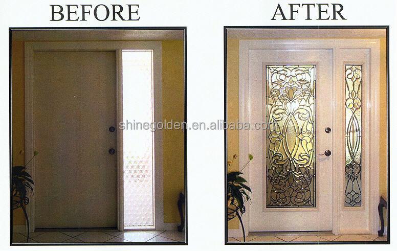 Gyd 15d0669 modern safety door design in metal buy for Door window inserts