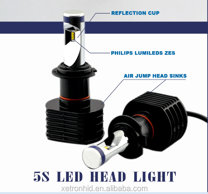 Auto Motorcycles led headlight car headlight with CE ROHS Approved 6063 Aviation Aluminum
