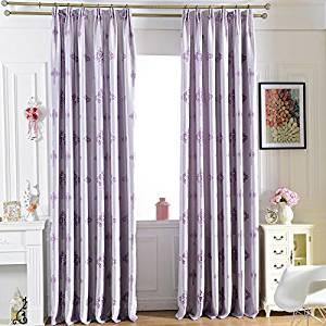 Fairy Forest Jacquard Cloth Custom Shading Curtain Cloth (Purple)