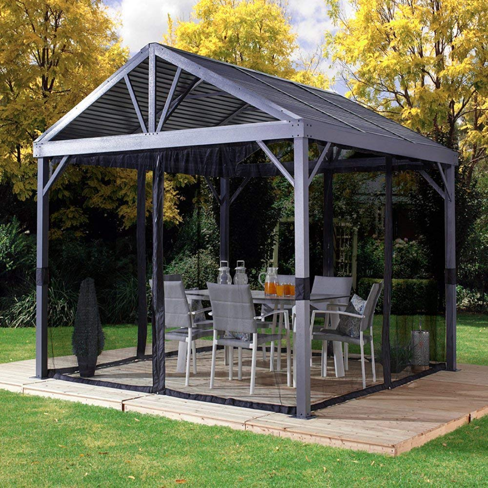 This Heavy Duty Galvanized Steel Framed Grill Island: Buy AMGS Hot Tub Gazebo Canopy Patio Outdoor Tent 10x10