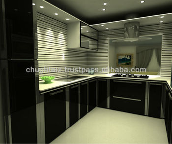 Black & Ss Kitchen Cabinets - Buy Pvc Kitchen Cabinets,Modern Kitchen  Cabinet,Contemporary Kitchen Cabinets Product on Alibaba.com