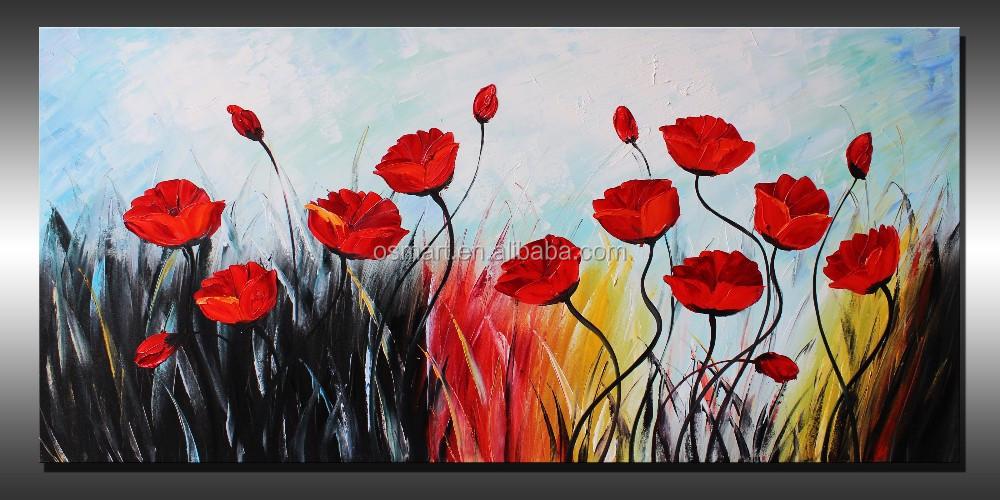 Coltello dipinti ad olio dipinto quadri di fiori di for Fiori dipinti a olio