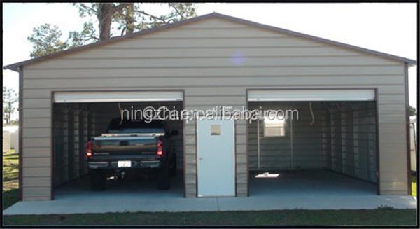 3 car metal garage large metal shed steel construction for Metal 3 car garage
