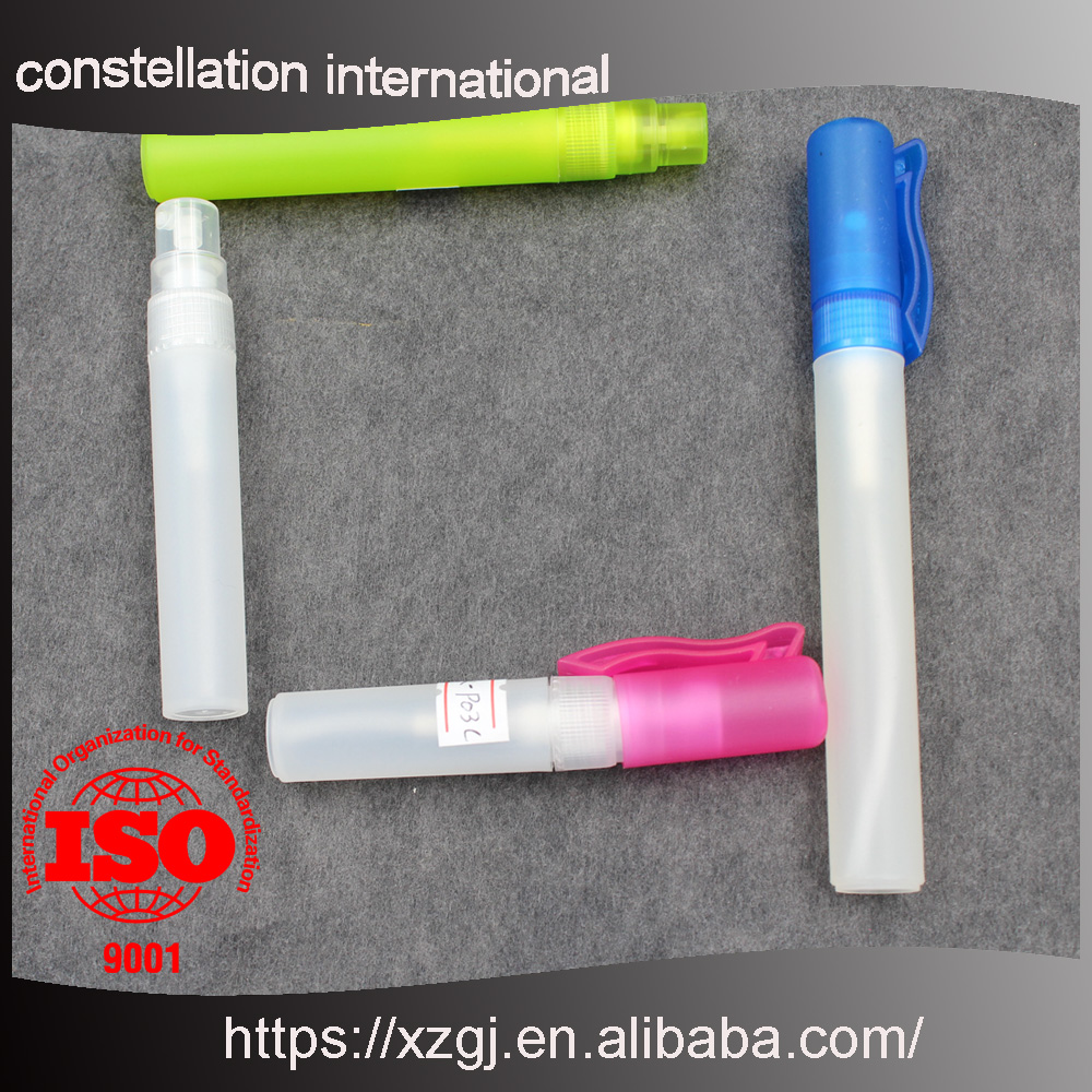 15ml pen shaped plastic empty refillable perfume/liquid dispenser atomizer/sprayer with pump